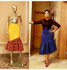 Flaring South African Traditional Dresses For Women 2019 African Print Skirt, African Print Dresses, African Fashion Dresses, African Dress, Ankara Fashion, African Attire, African Wear, Latest Gown Styles, South African Traditional Dresses