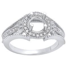 Elora 14k Gold 1/4ct TDW Diamond Split Shank Semi Mount Bridal Ring (I-J and I1-I2) (Size 7.5, Yellow Gold), Women's