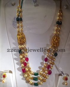 Jewellery Designs: ruby beads