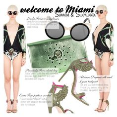 """""""Miami!"""" by thequeenstore ❤ liked on Polyvore featuring ADRIANA DEGREAS, Oscar Tiye and Linda Farrow"""