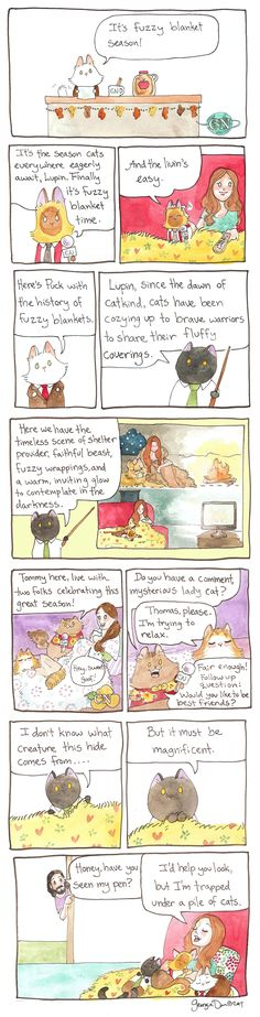 Breaking Cat News by Georgia Dunn for January 17 2017 2019 Breaking Cat News Fuzzy Blanket Season. Timeless scene Jan 17 2017 The post Breaking Cat News by Georgia Dunn for January 17 2017 2019 appeared first on Blanket Diy. Fuzzy Blanket, Bravest Warriors, Cat Comics, Funny Happy, Calvin And Hobbes, Political Cartoons, Comic Strips, Funny Pictures, Kitty