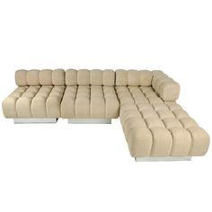 1stdibs   Harvey Probber Sectional Sofa This makes a bed-I would dream of dinner rolls.....
