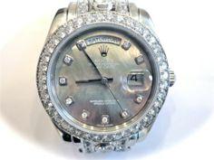 Men's Rolex Platinum Masterpiece Custom Diamond Band, Bezel & Face  NEWTONBOB