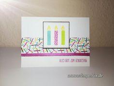 Perfekter Geburtstag, eine schnelle und einfache Karte Viel Spaß beim nachbasteln eure Claudia von Stempelfox