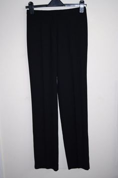 Jigsaw Womans Trousers black wool blend Fashion Designer office style 28w 33l #Jigsaw #officestyle