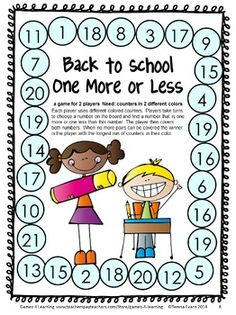 Back to School Math Games First Grade by Games 4 Learning for the busy Back to School time! - 14 printable games that review a variety of kindergarten skills. $