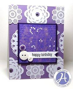 Dana Warren | Hampton Art | Purple Happy birthday