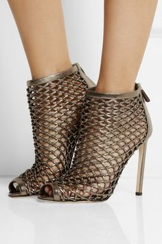 Gucci Woven Metallic Leather Sandals
