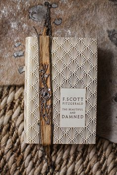 Art Deco Book Cover and Beaded Bookmark