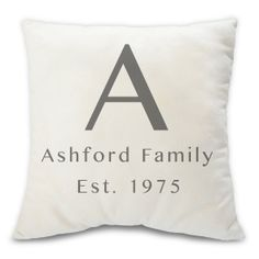 Personalized monogram pillow  decorative throw by BuyAPillow, $79.00
