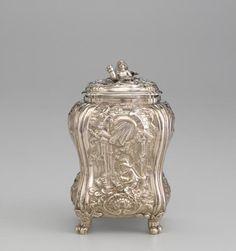 Silver Tea canister  1755-1756 SAMUEL HERBERT & CO., London (manufacturer)