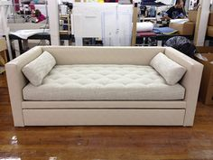 This is a 7657-85 Porter Divan made as a special construction trundle bed!  Made by Hickory Chair Company. http://www.hickorychair.com/Furniture/All-Furniture/Mariette-Himes-Gomez/i505860-Porter-Divan.aspx