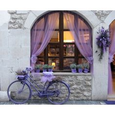 Celebrating the lavender harvest, Venzone, Italy ❤ liked on Polyvore featuring backgrounds, photo, pictures, slike and architecture