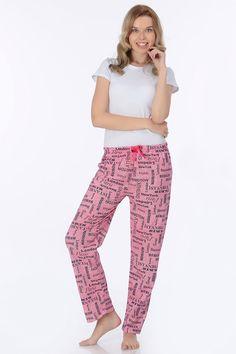 Desenli Bayan Alt Pijama   Rays Giyim