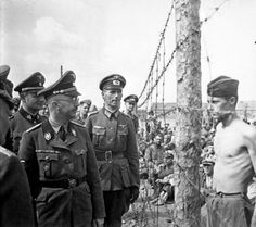 Horace Greasley defying Heinrich Himmler during the inspection of the camp.