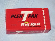 Big Red gum - Grandma Wilhelm always had this in the car and we'd have some on the ride to church in Wetmore.