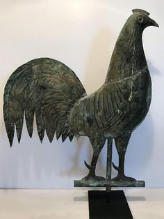 Lot: Copper Gamecock Weathervane, Lot Number: 0132, Starting Bid: $1, Auctioneer: Jasper52, Auction: Americana, Folk & Outsider Art Auctions, Date: April 2nd, 2017 EDT