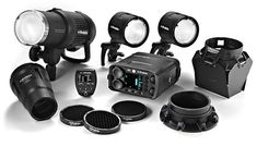 A family portrait of the Profoto Off-Camera Flash system.