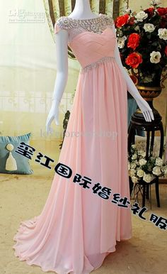 Sparkling Beaded Short Sleeve Open Back Ruffles Chiffon Cheap 2013 Wedding Prom Sexy Evening Dresses