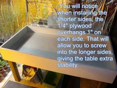 Build a 3x6' hydroponic grow bed (I have not checked out any plastics used for food safety - just pinning for now - Deb)