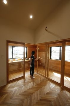 ヘリンボーン Japanese Home Design, Japanese House, Entry Hall, Mudroom, Herringbone, Future House, Interior Decorating, Stairs, Exterior