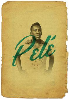 Pelé // Cruyff y los 5 grandes on Behance
