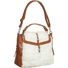 VERDANDI ARTI Faux Fur and Faux Leather Convertible Handbag, Brown VerDandi Arti http://www.amazon.com/dp/B00M9F5WNO/ref=cm_sw_r_pi_dp_s9w2tb0B540491Y6