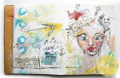Jan 2016 Its A Jungle Up There - Art Journal Spread, by soapHOUSEmama