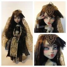 monster high custom doll monstermash ooak monster thesleepyforest keberneteka cute kawaii repaint fortune teller