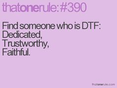 Thats the kind of DTF I want