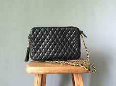 Vintage QUILTED Handbag  1990s Accessories  by BluegrassBooty