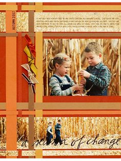 scrapbook ideas layouts FOR FALL | Fall Scrapbook Layout Ideas: Weave a Fall Scrapbook Page Background