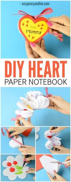 DIY Heart Notebook! An amazing gift for kids to make their mom this Mother's Day!