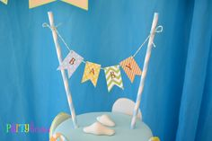 Bunting Cake Topper
