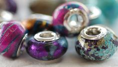 Beautiful beads made with Friendly Plastic.  From RareLizzie's blog.