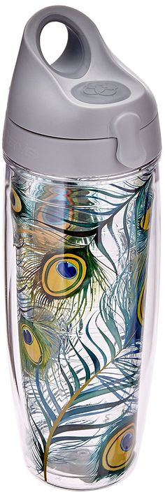 Tervis Tumbler Pea Feathers Wrap Water Bottle With Lid Click Image For More Details
