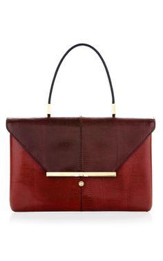 Scarlet Lizard Single Handle Bag by Valentino for Preorder on Moda Operandi