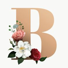 Pin about Lettering, Fonts and Letter b on Disfrases Floral Font, Floral Letters, Monogram Letters, Alphabet Design, Flower Background Wallpaper, Flower Backgrounds, Monogram Wallpaper, Wedding Logo Design, Beautiful Fonts