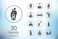 30 family icons by Palau on Creative Market