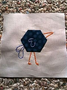 Cute Hexagon / embroidery quilt squares