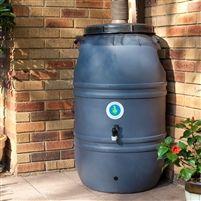 60-Gallon HDPE Food Grade Plastic Rain Barrel with Screw on Cover @ bestrainwatercollectionsystems.com