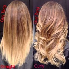 Straight or curled balayage ombré @Shirin Mg Mg Mg Mg Mg Mg Mg Kazemi ....you were right