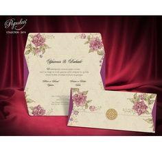 Invitatii de nunta cu flori mov
