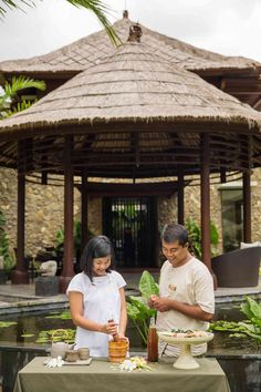 Take part in a Jamu Workshop while at Mandapa, a Ritz-Carlton Reserve. Jamu is a traditional Indonesian herbal drink with a centuries-long history — hand-written recipes have been passed down from generation to generation.