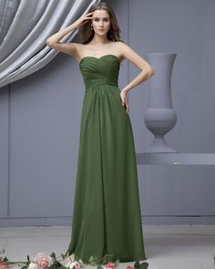 I love this color and dress for a bridesmaid.