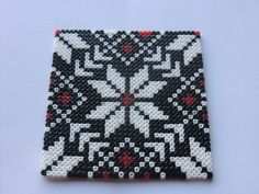 Coaster set hama mini beads by MC & AD