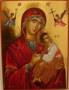 High quality hand-painted Orthodox icon of Theotokos of the Passion. BlessedMart offers Religious icons in old Byzantine, Greek, Russian and Catholic style. Orthodox Icons, Byzantine Art, Russian Art, Virgin Mary Picture, Hand Painted, Painting, Paint Icon, Art, Sacred Art