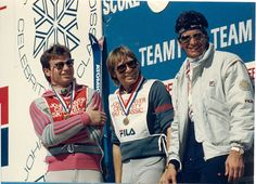 John and his team -(L-R) Franz Weber, John and Ed Marinaro. Christy McNichol was also on his team but not pictured, by Mary Ledford