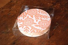 "Katharine Watson ""Set of 8 Block Printed Coasters"" 