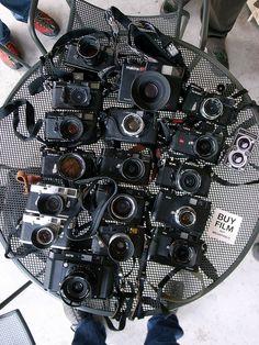 rangefinders by tokyo camera style, via Flickr